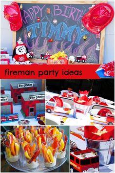 Boy's Fireman Birthday Party Ideas www.spaceshipsandlaserbeams.com
