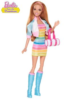 As seen in the Barbie web series, this FAB-tastic sporty look is sure to make waves year round! Barbie™ Life in the Dreamhouse Summer® Doll.