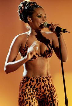 mel b, spice girls, fashion, style inspiration, leopard print outfit