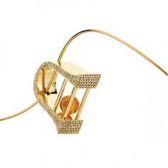 Citrine and diamond pendant by Yael Sonia