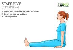 staff yoga pose (dandasana)