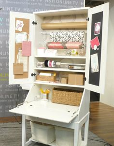 {diy gift wrapping station}