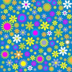 Floral-Blumen-Hintergrund,  public domain