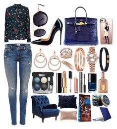 """""""Just owning the boss in me!"""" by pulseofthematter ❤ liked on Polyvore featuring Balenciaga, Hermès, Christian Louboutin, Salvatore Ferragamo, SW Global, Rolex, Michael Kors, J.Crew, Tom Ford and Chanel"""