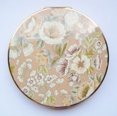 Floral Beige Stratton Compact