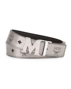 4aa073ac0b0 MCM Reversible M-Buckle Monogram Belt