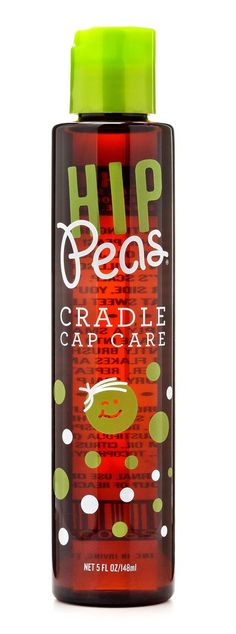 "One mom calls it the ""miracle elixir"" for cradle cap. Hip Peas Cradle Cap Care is a must have for every mom. Our remedy is an all-natural recipe crafted with olive oil, jojoba oil, sunflower seed oil and vitamin E to sooth and moisturize your beloved baby's scalp. Non-irritating and nourishing. Free of parabens, phthalates, petrochemicals and sulfate. Cruelty-free."