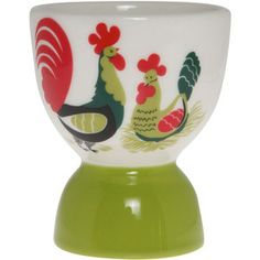 Fishs Eddy Rooster Ceramic Egg Cup