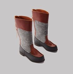Docksta beak boots are all manufactured from vegetable-tanned leather from Tärnsjö Tannery. Vegetable Tanned Leather, Ugg Boots, Leather Boots, Uggs, Brown, Handmade, Shoes, Fashion, Cloakroom Basin