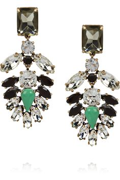 gorgeous.  J.Crew | Casati cubic zirconia and crystal earrings  | NET-A-PORTER.COM