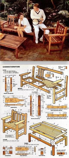 English Garden Furniture Plans - Outdoor Furniture Plans and Projects | WoodArchivist.com
