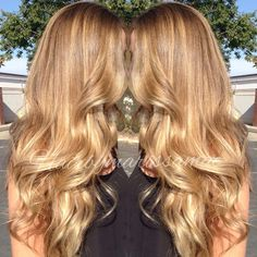 Trendy Ideas For Hair Caramel Honey Golden Blonde Balayage Hair Color And Cut, Ombre Hair Color, Hair Color Balayage, Blonde Color, Hair Colour, Golden Blonde Hair, Honey Blonde Hair, Blonde Wig, Dark Blonde