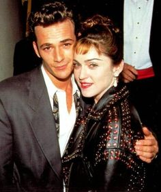 madonna & luke perry at aids awards 1991 Beverly Hills 90210, Divas, Madonna 90s, Lady Madonna, Michigan, Madonna Pictures, La Madone, Luke Perry, Movies