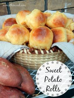 These sweet potato rolls are FABULOUS. My kids new favorite roll ...