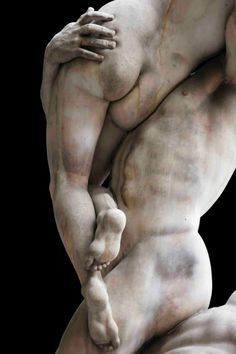 """Giambologna(1574-82) - The Rape Of The Sabine Women. Florence, Italy. The indentation of fingertips into flesh here is incredible. By the way, """"the English word 'rape' is a conventional translation ofLatinraptio, which in this context means'abduction'rather than its prevalent modern meaning ofsexual violation."""""""