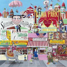 Coney Island Melody: original acrylic on canvas.    By: Amy Nelder