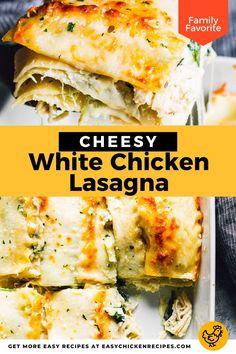 Italian Chicken Recipes, Yummy Chicken Recipes, Spinach Stuffed Chicken, Baked Chicken, Homemade Chicken Alfredo, White Chicken Lasagna, Enchilada Casserole, Artichoke