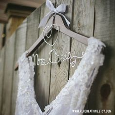 Personalized Wedding Hangers! Get yours at www.rlhcreations.etsy.com. #rlhcreations