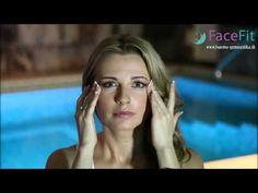 Tvárová gymnastika, cvik na spevnenie spodného viečka - YouTube