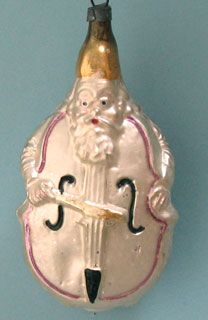 "Antique glass Violin Man"" Christmas ornament.  Mine is actually gold."