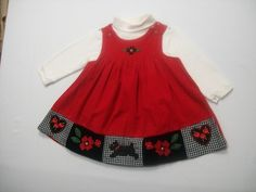 GUM BALLS BABY GIRL SIZE 12 MONTHS CHRISTMAS HOLIDAY OUTFIT 100% COTTON JUMPER #GUMBALLS #JUMPER #HOLIDAY