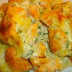BataattiBroileriVuoka - Kotikokki.net - reseptit Cauliflower, Shrimp, Good Food, Food And Drink, Pasta, Meat, Chicken, Vegetables, Breakfast