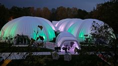 2,500 square meters of Evolution Domes and tunnels.  10m dome, 8m dome, 2 x 20m domes, 2 x fluid scarabs, 2 x 15m x 10m Frame marquees, various linking tunnels. Each done had its own flooring and carpet throughout (2600sqm) plus a further 150sqm of outdoor. It took 12 Lorries to transport the structures and 190 tons of ballast needed to weigh them down, not to mention the glass doors, heating and lighting. #COP23 #eventsprofs Square Meter, Spacecraft, Evolution, Transportation, Glass Doors, Frame, Carpet, Outdoor, Flooring