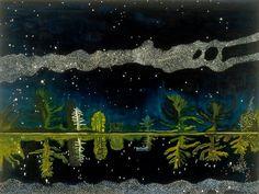 """Peter Doig, """"Milky Way"""", Scottish National Gallery of Modern Art Peindre la nuit au Centre Pompidou Metz Peter Doig, Landscape Art, Landscape Paintings, Magic Realism, Paris Ville, Tokyo Ville, Paris Art, Milky Way, Contemporary Paintings"""