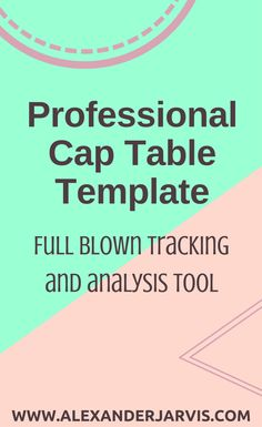 A professional capitalization table with returns analysis for startups, lawyers and advisors. Table Template, Scale, Tables, Templates, Teaching, Happy, Weighing Scale, Mesas, Stencils