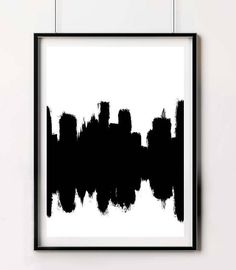 City Scape Large Prints Popular Prints Trending Brushstroke