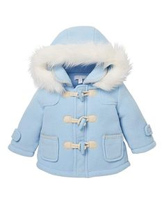 KD BABY Blue Duffle Coat KD Baby Blue Duffle Coat. Keep your new baby boy nice and cosy when youre out and about on chilly spring day walks with this pretty KD Baby duffle jacket. Super soft, featuring a faux fur detachable h http://www.MightGet.com/january-2017-13/kd-baby-blue-duffle-coat.asp