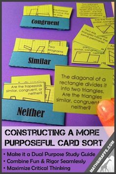 Different Ways to Use a Card Sort to Maximize Critical Thinking