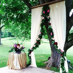 Crushing over this draping at the ceremony altar!