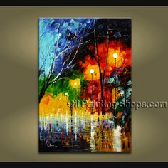 Beautiful Contemporary wall art oil paintings of Landscape. Direct from Bo Yi Art Studio. It is with great pleasure to offer you this stunning 1 panel(s) wall art! This painting is created and hand painted by us, it is well stretched with inner frame, rea Modern Oil Painting, Modern Art Paintings, Oil Painting On Canvas, Abstract Paintings, Contemporary Wall Decor, Modern Wall Art, Contemporary Landscape, Modern Contemporary, Panel Wall Art