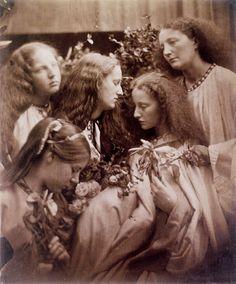 + The Rosebud Garden of Girls. Julia Margaret Cameron 1868 +