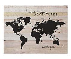Impresión en madera de pino Mapamundi frase - 60x45 cm Tumblr Wallpaper, Moose Art, Magic, Adventure, Animals, Chocolate, Quotes, Worldmap, Frases