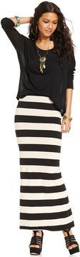 Free People Skirt, Striped Maxi on shopstyle.co.uk
