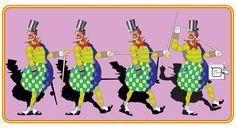 PALHAÇO VINTAGE Palhaço de circo vintage. Desenho - Ilustração - Illustration - Drawing http://arterocha.blogspot.com.br