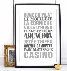Affiche Bord de mer «Arcachon»                                                                                                                                                                                 Plus