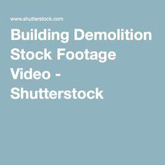 Building Demolition Stock Footage Video - Shutterstock