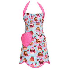 Sweeter Than Pie Apron Blue, 32€, now featured on Fab.