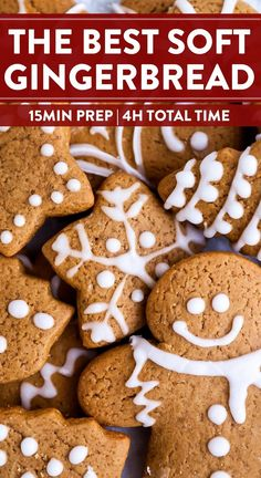 It wouldn't surprise me if these gingerbread cookies turn into the real stars of your Christmas celebration! This recipe makes the perfect cookies every time, nicely spiced with warm ginger, cinnamon, molasses and more. So why not make this timeless classic for the holiday season? | #christmas #christmascookies #christmasfood #christmasrecipes #holidaybaking #xmascookies #xmas #cookieexchange #easybakingrecipe #cookierecipe #gingerbread #gingerbreadcookies