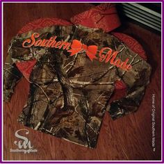 Southern Made Realtree Long Sleeve Explorer 100% Cotton T-Shirt with Pocket on Etsy, $34.00
