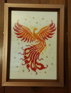Phoenix cross stitch by silverdragoness.deviantart.com on @DeviantArt
