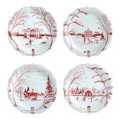 Juliska Country Estate Holiday Party Plates, Set of 4   Bloomingdale's