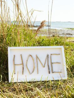 Make a driftwood sign in a frame.