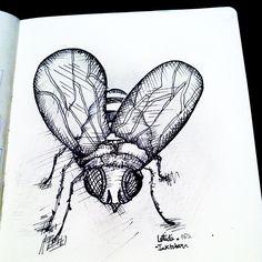 World's most Annoying Creature...  #Inktober #mosca #tinta #ink