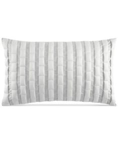 "Hotel Collection Modern Plaid 12"" x 20"" Decorative Pillow, Only at Macy's"