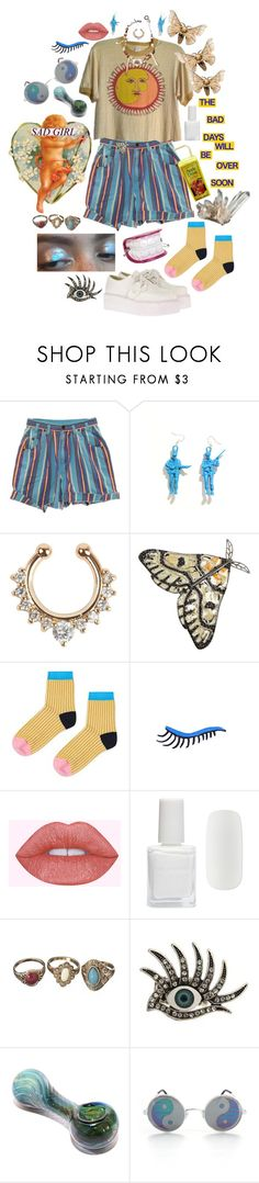 """""""Untitled #533"""" by xpissfairyx ❤ liked on Polyvore featuring Valentino, Topshop, Lime Crime and Forever 21"""