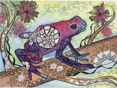 Tree Frog. Watercolor and Ink on 140lb arches